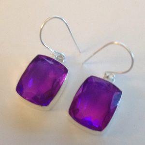 Double color tourmaline earrings